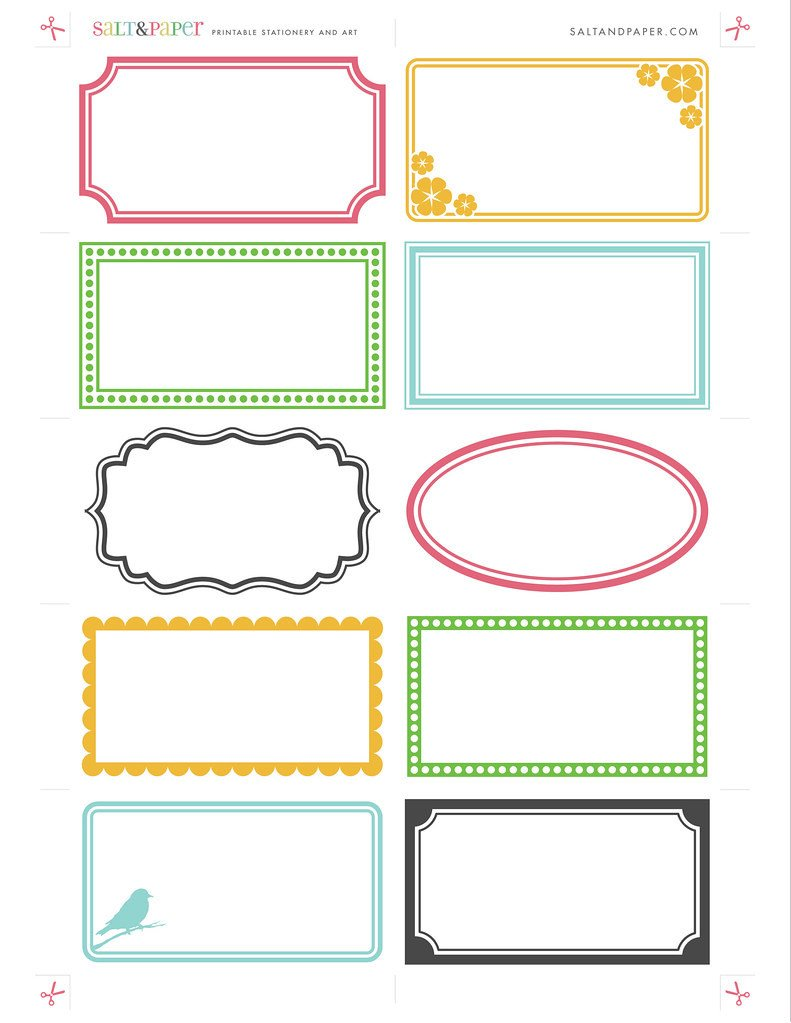 Label Templates Free Download Printable Labels From Saltandpaper