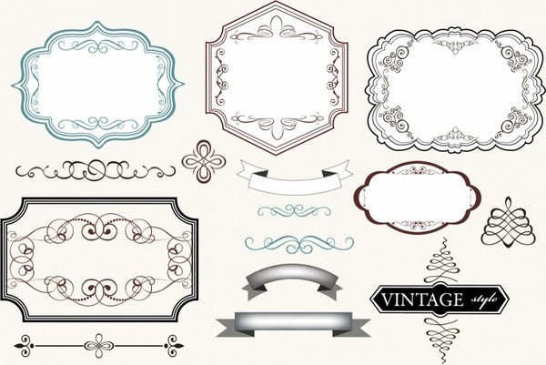 Label Templates Free Download Vintage Label Template Free Vector 24 432 Free