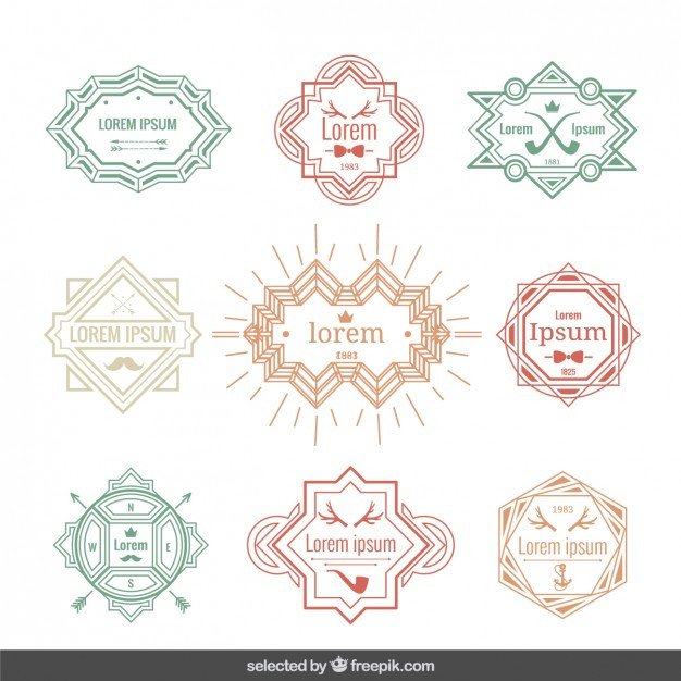 Label Templates Free Download Vintage Labels Template Vector