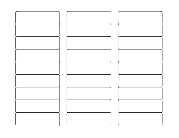 Label Templates In Word Blank Labels Blank Label Template