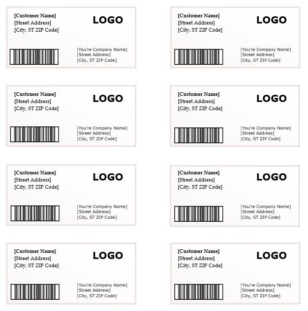 Label Templates In Word Shipping Label Template – Microsoft Word Templates