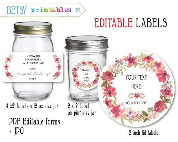 Labels for Jars Template Labels for Canning Jar Labels Mason Jar Lid Labels Pdf