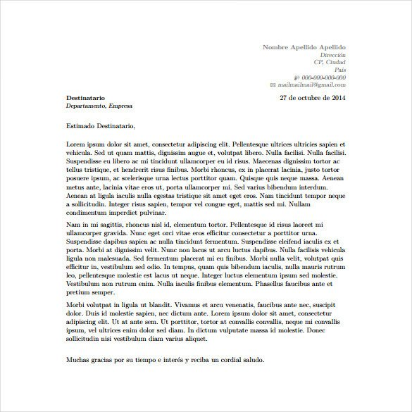 Latex Cover Letter Templates 5 Latex Cover Letter Templates Free Sample Example