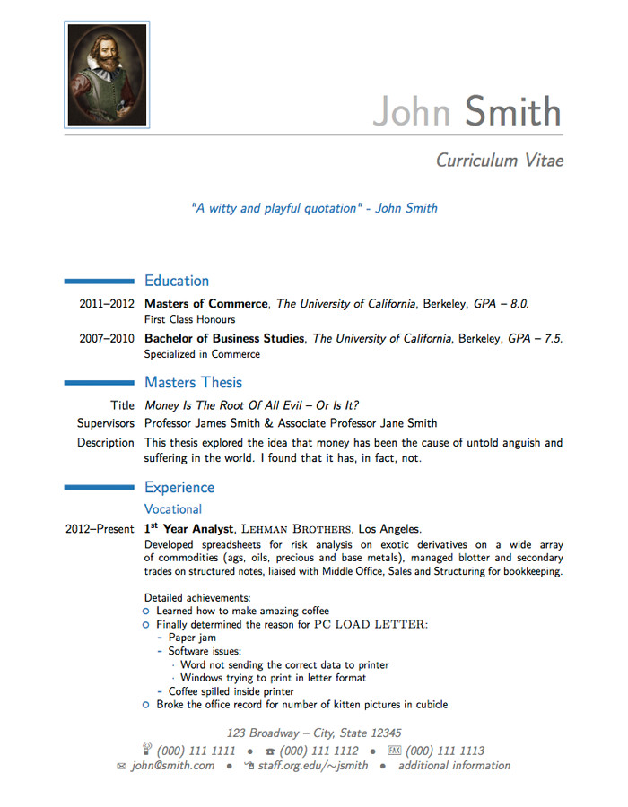 Latex Cover Letter Templates Latex Templates Moderncv and Cover Letter