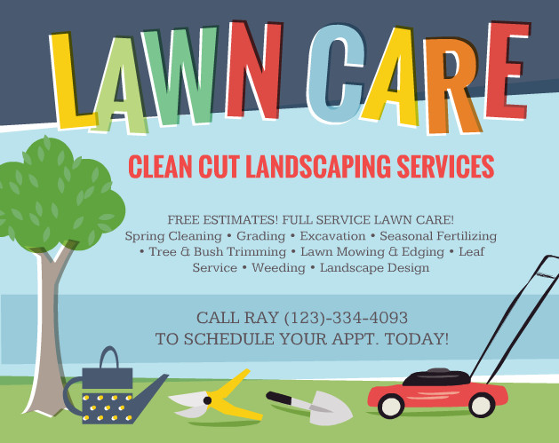 Lawn Care Flyer Template Word Lawn Care Flyers – Should You Use them the Lawn solutions