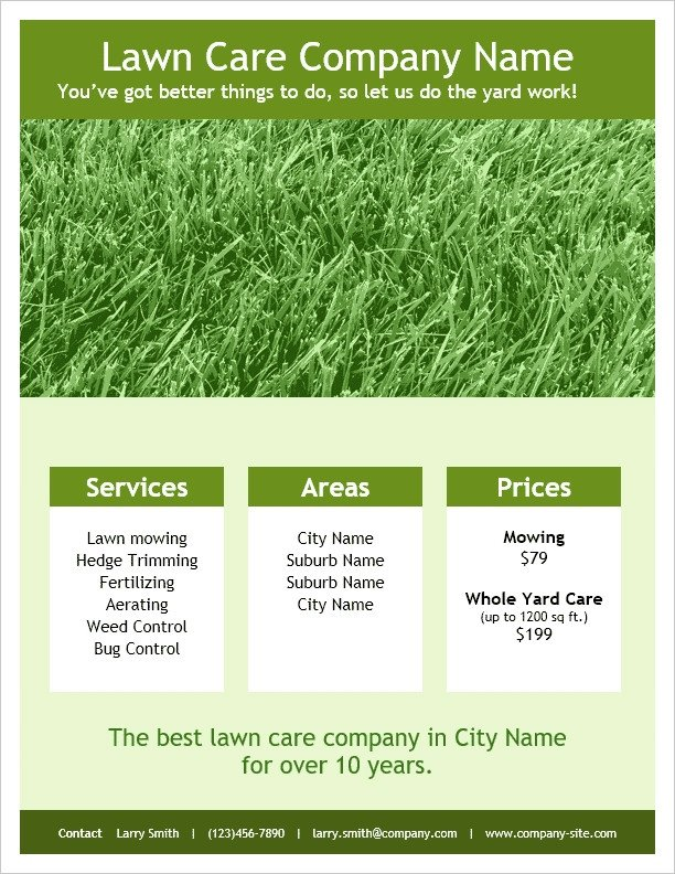Lawn Care Flyer Template Word Lawn Care Flyers Templates Icebergcoworking