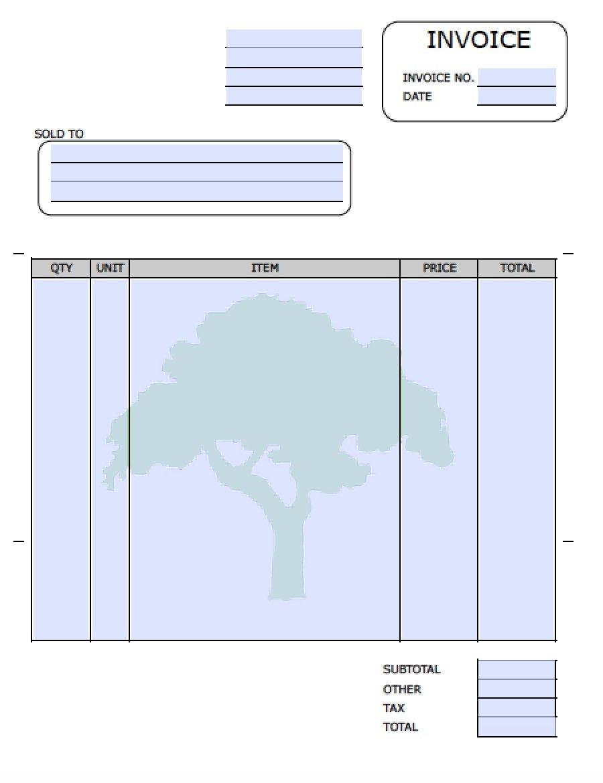 Lawn Care Invoices Invoice Template Ideas