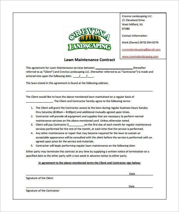 Lawn Care Proposal Template Free Bid Proposal Template for Lawn Care Templates Resume