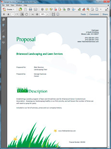 Lawn Care Proposal Template Free How to Write Your Own Lawn Care and Landscaping Services
