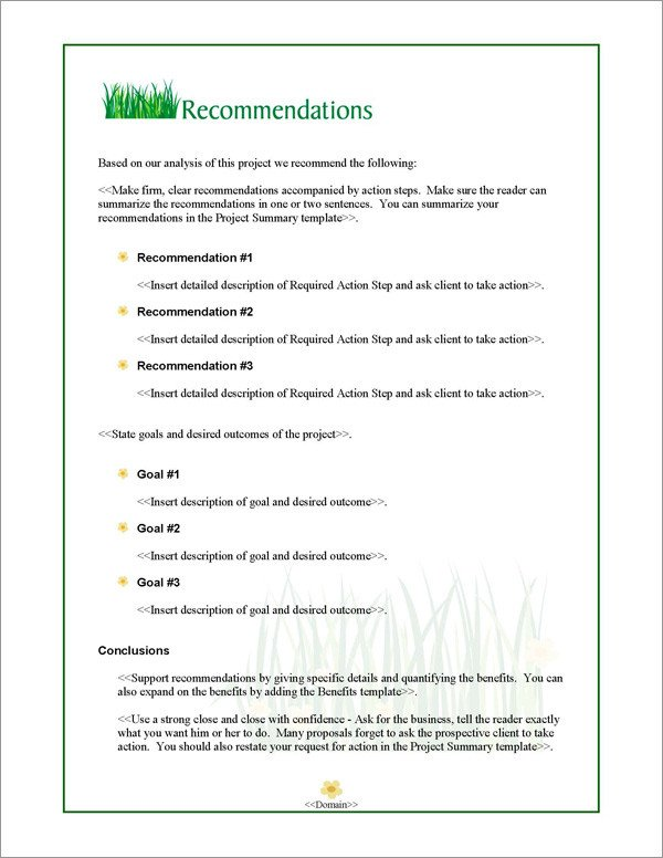 Lawn Care Proposal Template Free Proposal Pack Lawn 1 software Templates Samples