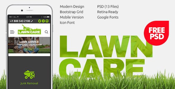 Lawn Care Website Template Download Free Lawn Care Services Psd Template