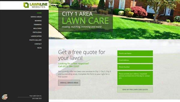 Lawn Care Website Template Lawn Care & Landscaping Website Design Templates