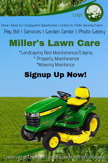 Lawn Care Website Template Lawn Care Service Website Template