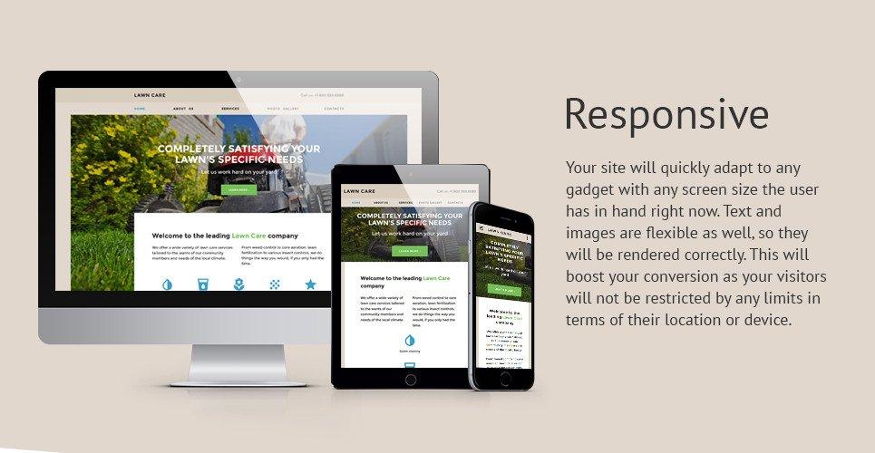 Lawn Care Website Template Lawn Maintenance Website Template