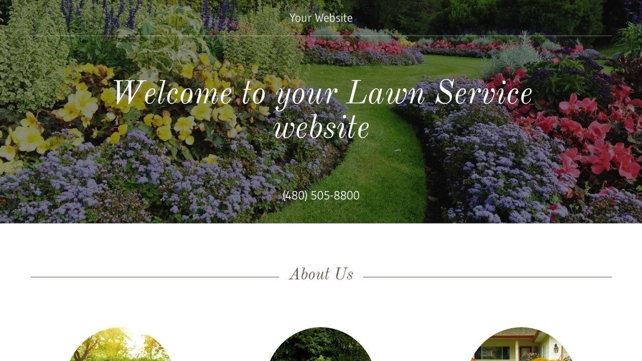 Lawn Care Website Template Lawn Service Website Templates