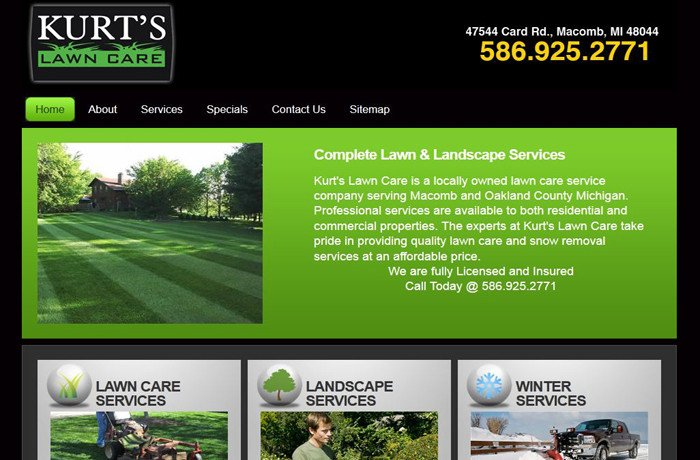 Lawn Care Website Template Seo Website Design Lawn Care Pany Ma B Mi