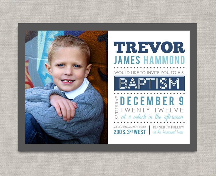 Lds Baptism Announcement Template Free Lds Baptism Invitation Trevor