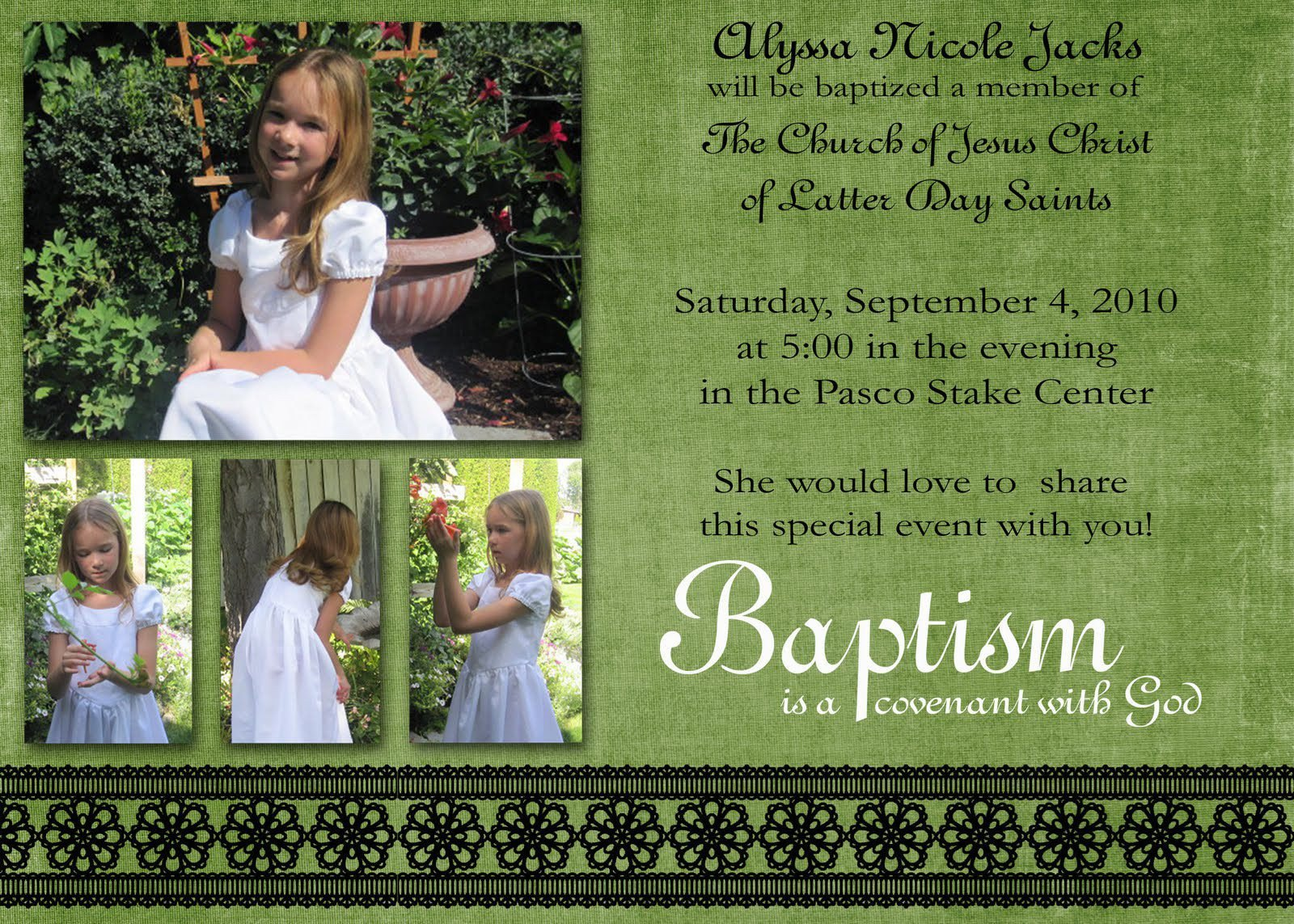 Lds Baptism Announcement Template Free Lds Baptism Invitations Lds Baptism Invitations