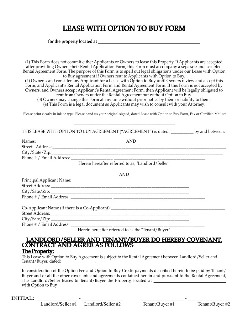 Lease Purchase Agreement form Free New Mexico Lease with Option to Buy Agreement Pdf