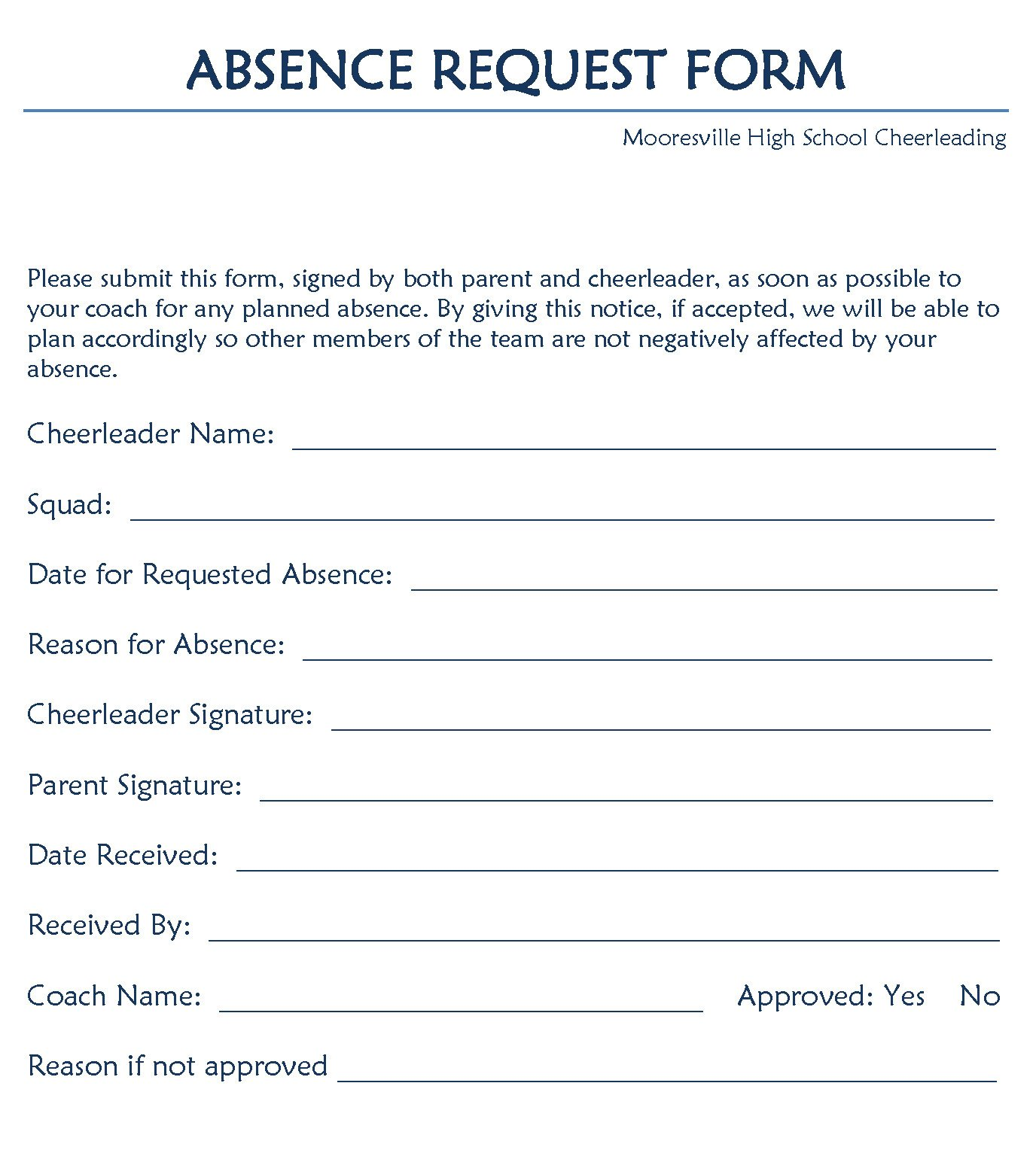 Leave Of Absence form Template 12 Example Of Leave Of Absence
