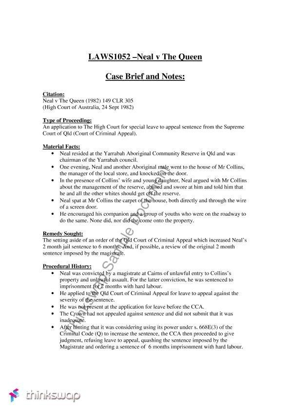 Legal Brief Template Word Case Brief Template
