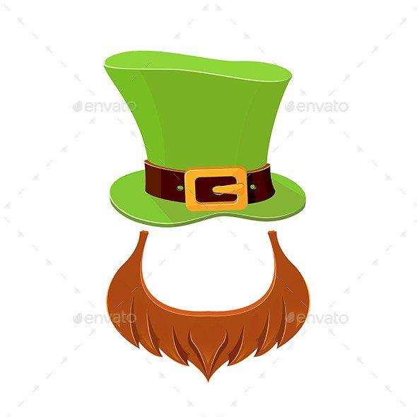 Leprechaun Hat and Beard Template Hat and Beard Leprechaun by Losw