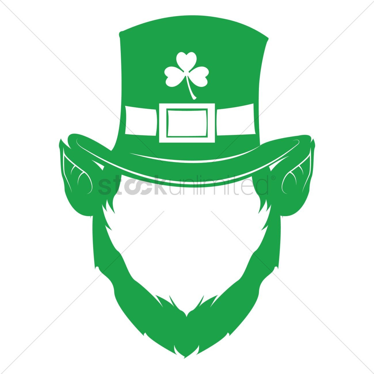 Leprechaun Hat and Beard Template Leprechaun Face with Hat and Beard Vector Image
