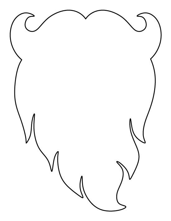Leprechaun Hat and Beard Template Santa Claus Beard Pattern Use the Printable Outline for