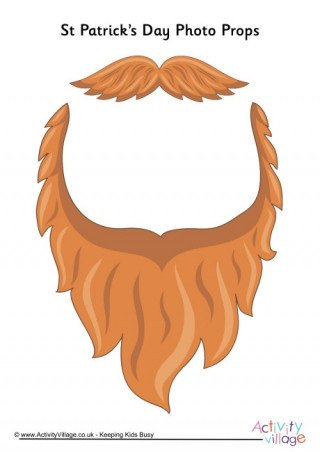 Leprechaun Hat and Beard Template St Patrick S Day Props