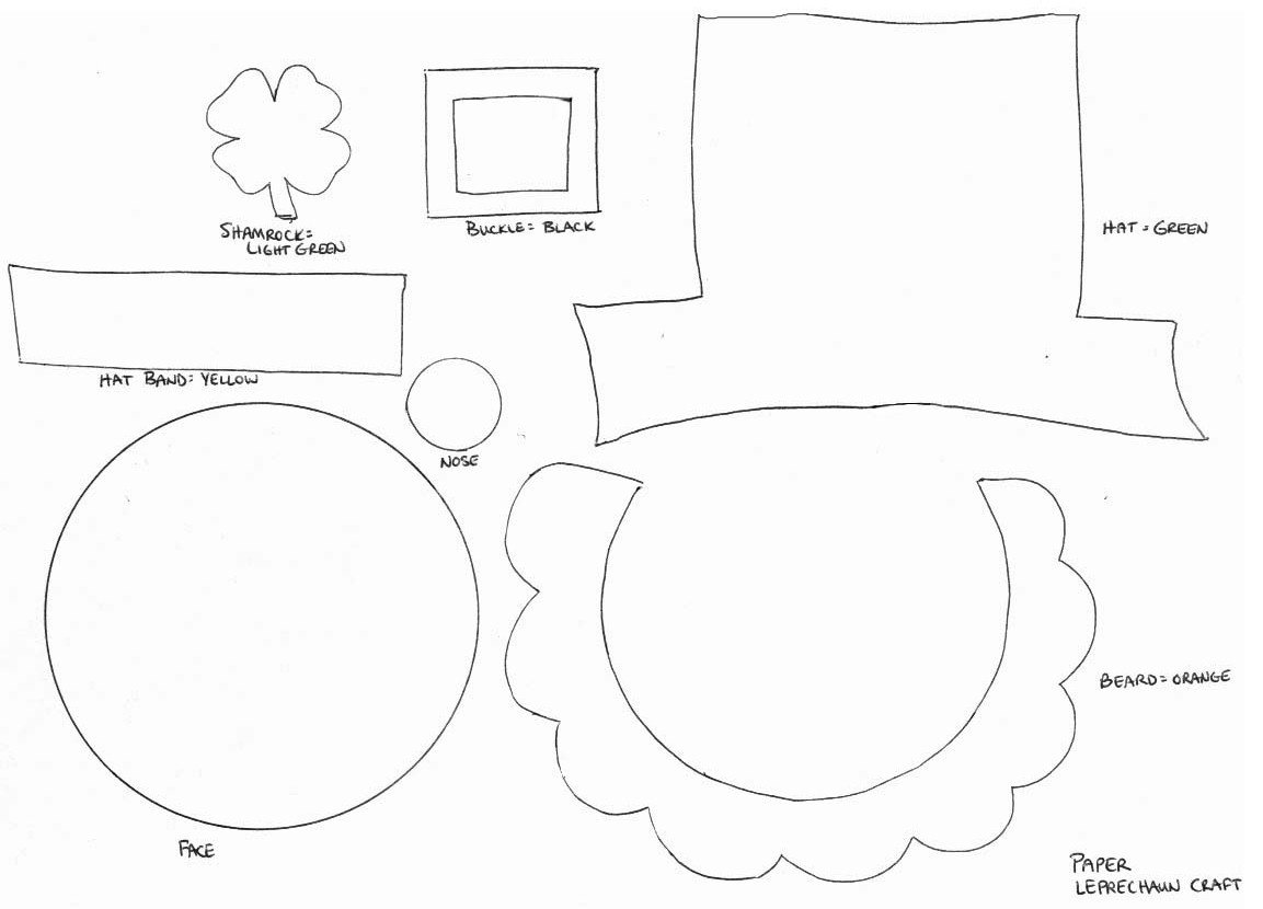 Leprechaun Hat and Beard Template the Everyday Life Of A Mother Teacher and Wife March 2011