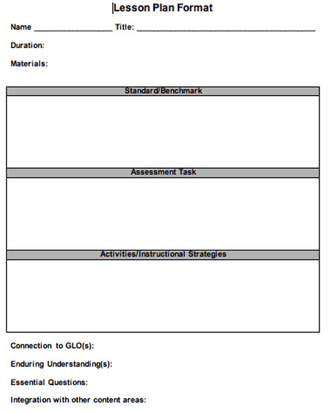Lesson Plan Template Doc 41 Free Lesson Plan Templates In Word Excel Pdf