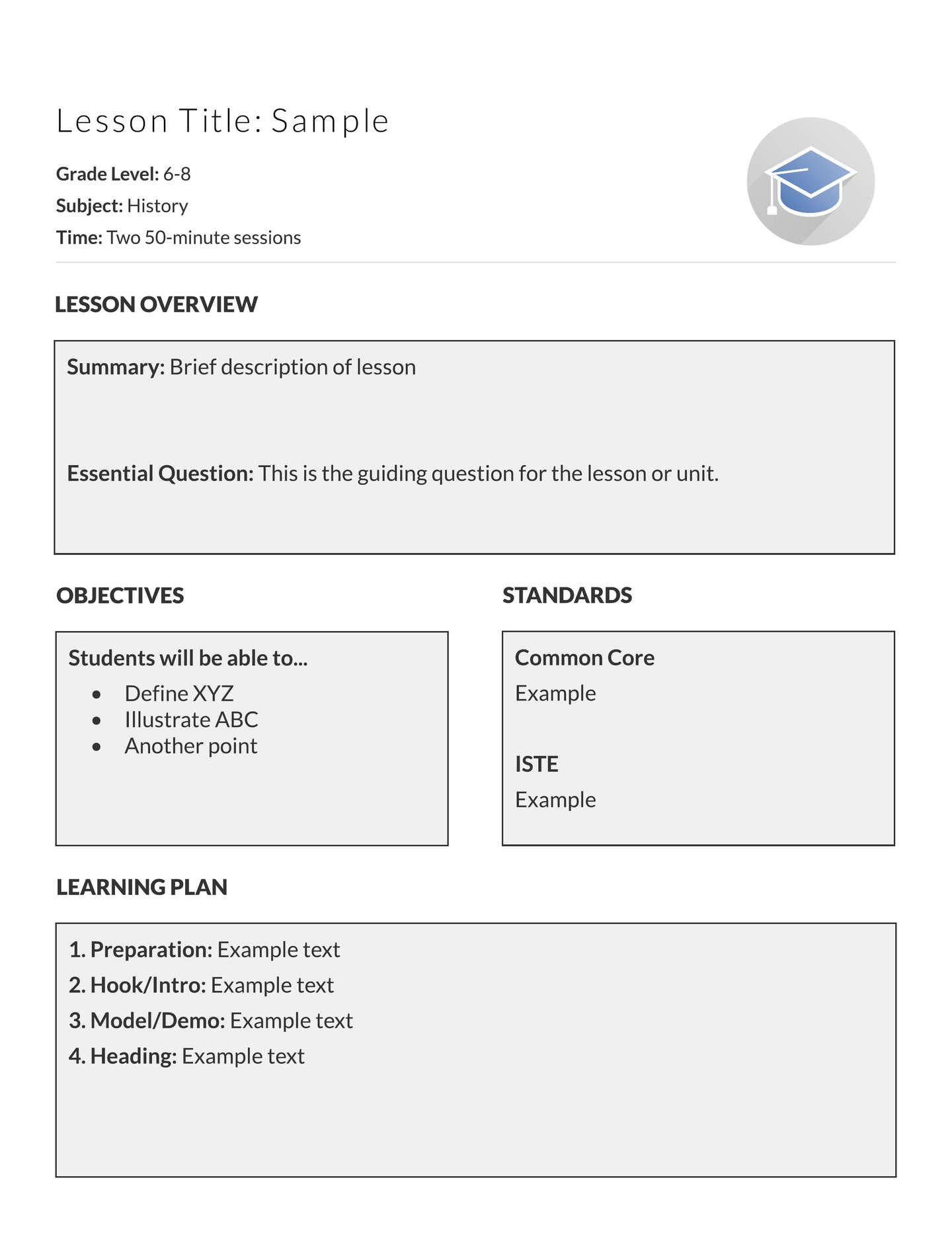 Lesson Plan Templates Free 5 Free Lesson Plan Templates & Examples Lucidpress