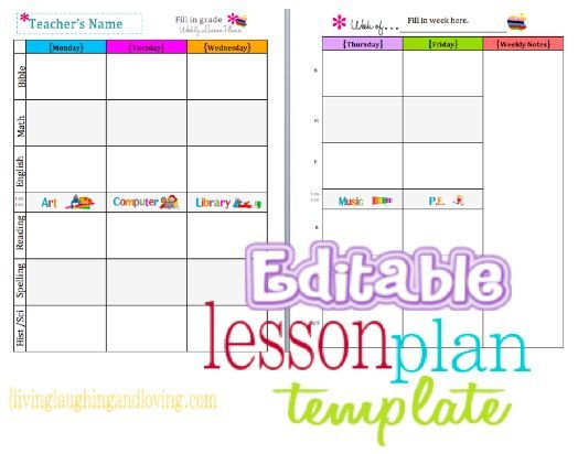 Lesson Plan Templates Free Cute Lesson Plan Template… Free Editable Download
