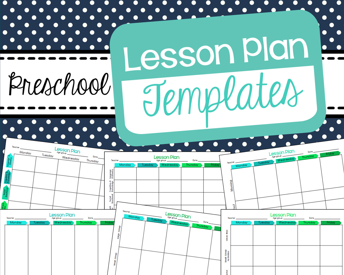 Lesson Plan Templates Preschool Free Preschool Lesson Plan Templates