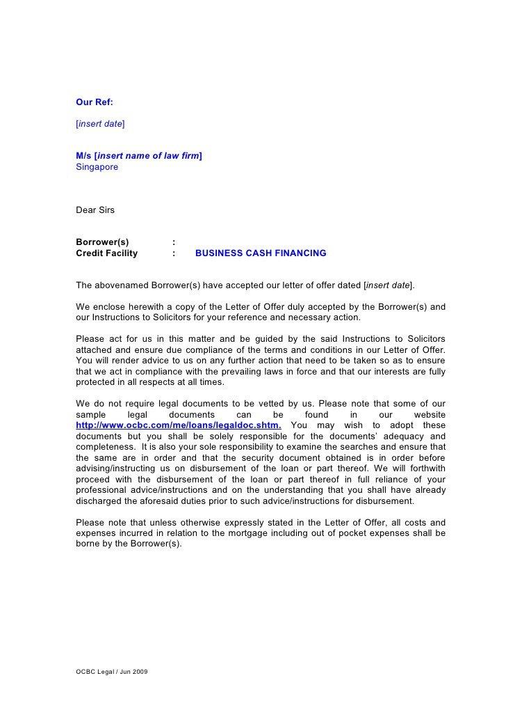 Letter Of Instruction Samples Letter Of Instruction for Business Cash Financing