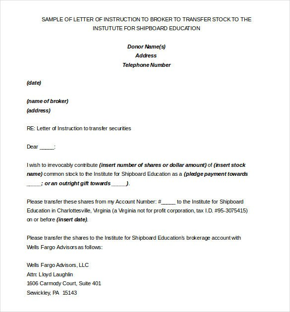 Letter Of Instructions Template 6 Instruction Templates Doc Pdf Excel