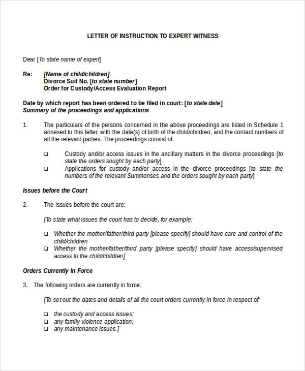 Letter Of Instructions Template Letter Of Instruction Template 9 Free Word Pdf