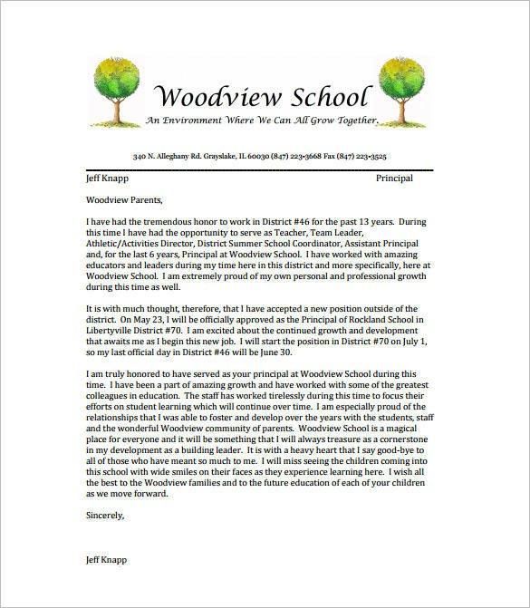 Letter Of Resignation Teacher Free 14 School Resignation Letter Samples & Templates In