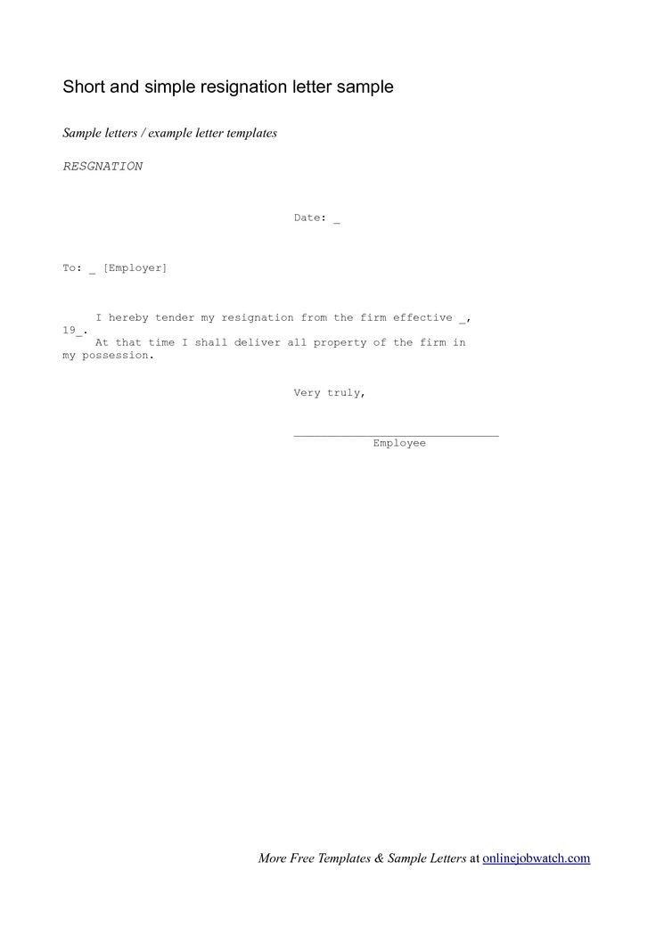 Letter Of Resignation Templates 1000 Ideas About Resignation Letter On Pinterest