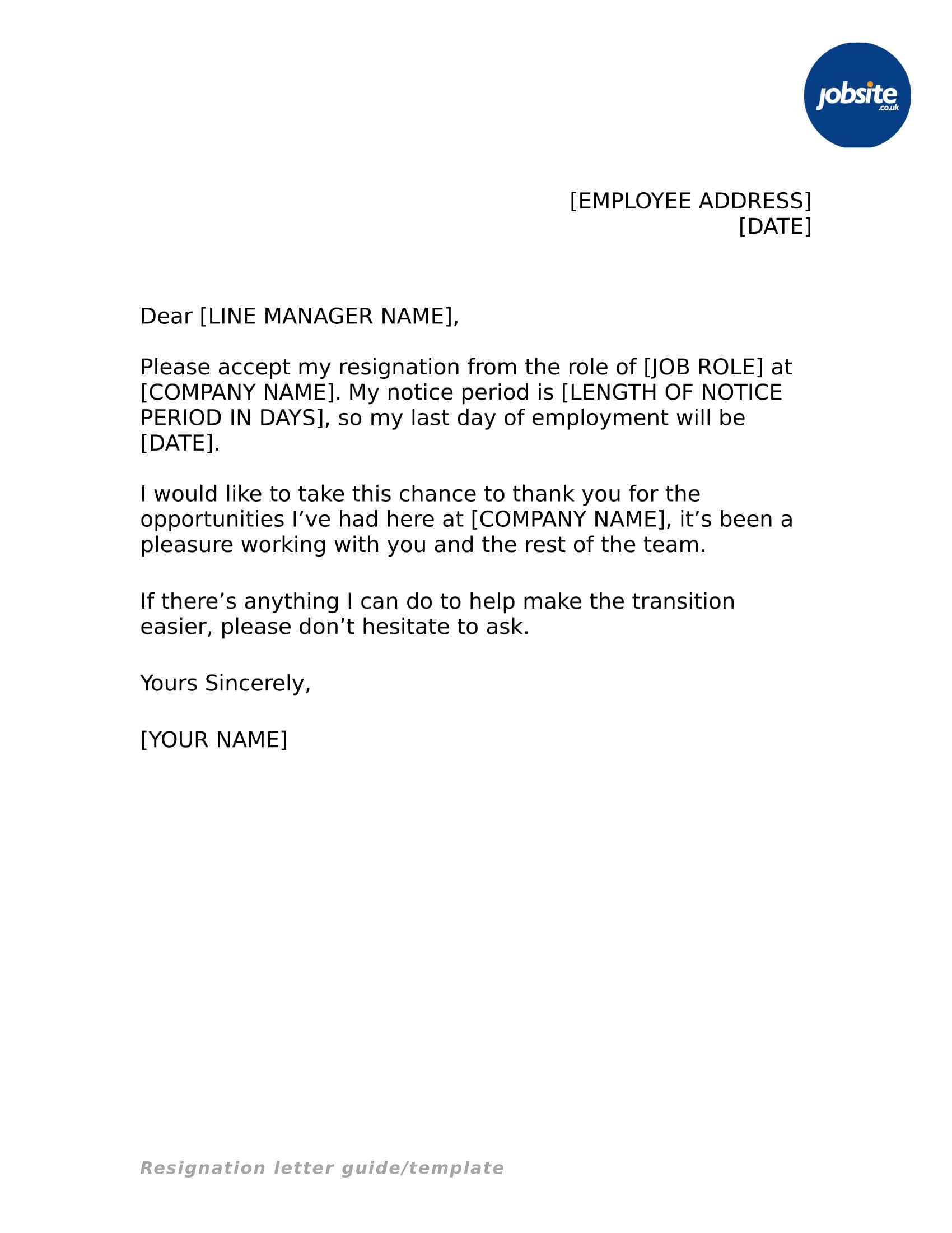 Letter Of Resignation Templates 35 Simple Resignation Letter Examples Pdf Word
