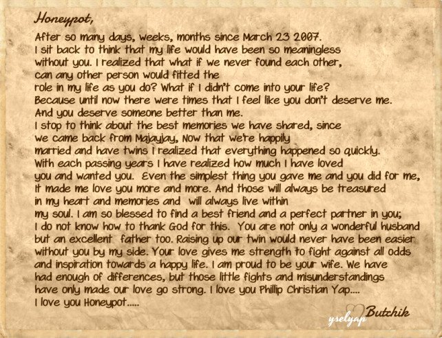Letter to My Husband Letter for My Husband