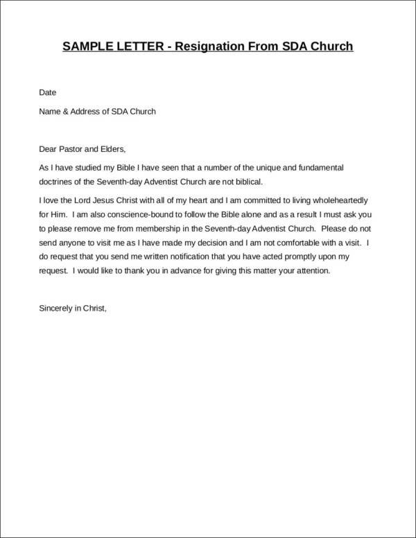 Letters Of Resignation Template 33 Printable Resignation Letter Samples & Templates