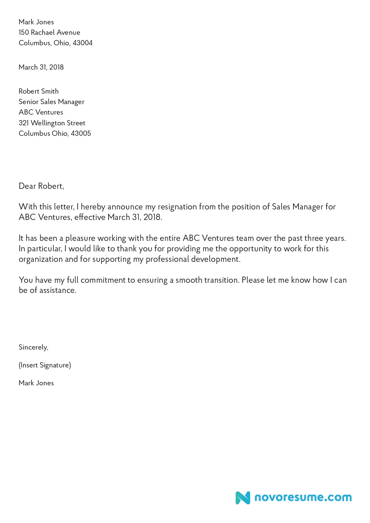 Letters Of Resignation Template How to Write A Letter Of Resignation – 2019 Extensive Guide