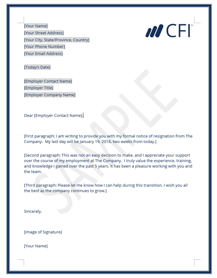 Resignation Letter How to Write a Letter of Resignation