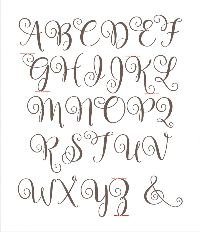 Letters Stencils to Print Alphabet Reusable Stencil Bal2014 A Z Letters Available