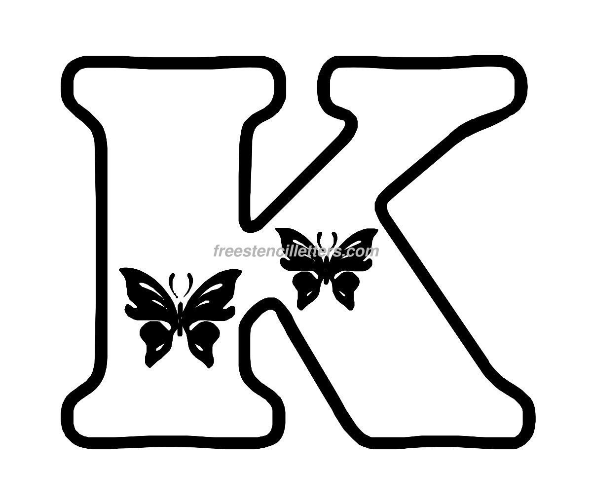Letters Stencils to Print butterfly Stencil Letters Archives Free Stencil Letters