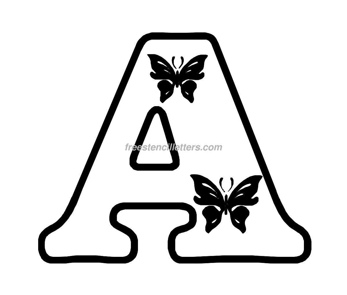 Letters Stencils to Print Free butterfly Stencils to Print