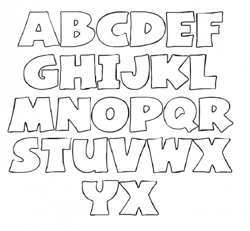 Letters Stencils to Print Letter Stencils On Pinterest
