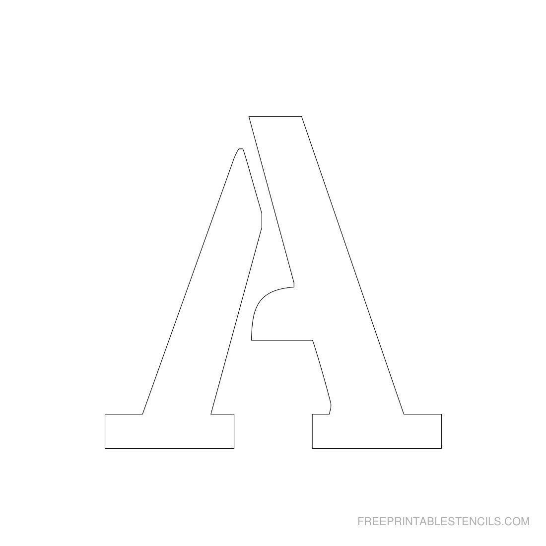 Letters Stencils to Print Printable 3 Inch Letter Stencil A Has Full Alphabet