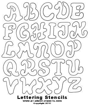 Letters Stencils to Print Printable Font Stencils On Pinterest